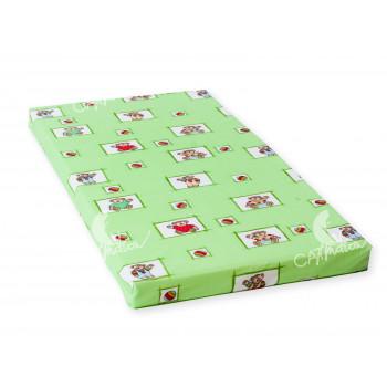 Dětská matrace 140x70x8 cm, molitan, zelená, Cuculo