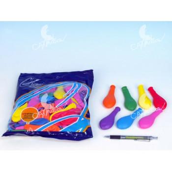 """Balonek/Balonky nafukovací 7"""" průměr 19cm karneval"""