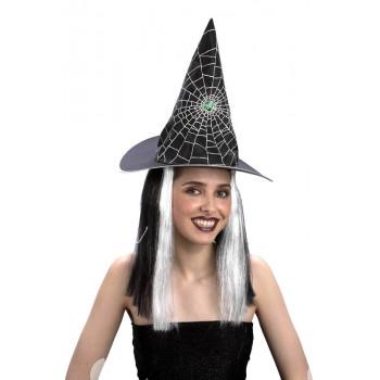 Čarodějnický klobouk s vlasy