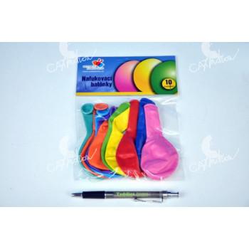 """Balonek/Balonky nafukovací 11"""" 12cm karneval"""