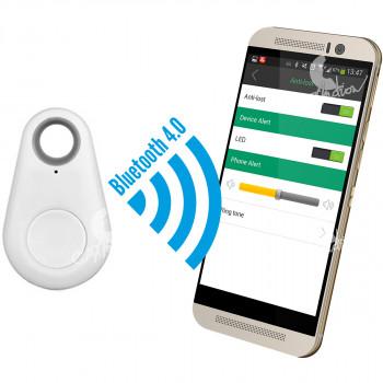 Chytrý přívěsek - hlídač a hledač věcí přes mobilní telefon, bílý