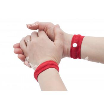 Akupresurní náramek proti nevolnosti, 2 kusy v pouzdře, červený
