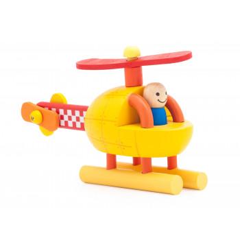Helikoptéra - dřevěná montessori stavebnice na magnetky
