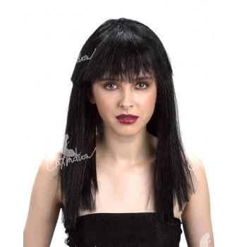 Paruka černá - dlouhé vlasy