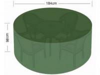 plachta krycí na set 4 židlí+kul. stůl pr.184x98cm PE 110g/m2