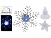 dekorace LED vánoční 9x9x3cm s přísavkou - mix variant či barev