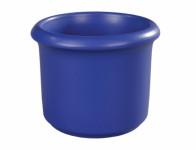 Obal na květník HEKTOR keramický tmavě modrý d11x9cm