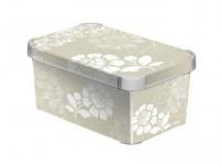 box úložný ROMANCE 29,5x19,5x13,5cm (S) s víkem, plastový