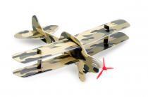Postav si dvouplošník - 3D puzzle, pěnové letadlo, CatMotion