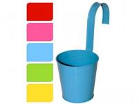květináč dekorační 13,5cm závěsný plech - mix barev
