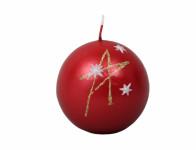 Svíčka HVĚZDY KOULE vánoční metalická d7cm