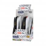 Fancy kuličkové pero modrá náplň 0,7 mm display 24ks, šedá-bílá-černá
