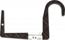 Držák na truhlík balkon - S trubka hnědý 12 cm
