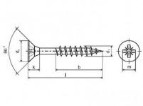 vrut un. polozávit 6,0x120mm ZZ (100ks)