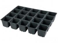 Sadbovač MULTI PL plastový černý 6,5x6,5cm 20ks