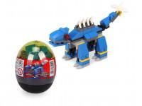 Stavebnice Wange – Dinosaur ve vejci (Ankylosaurus - modrý)