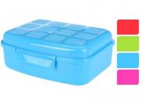 box svačinový 18,5x13,7x6,8cm s klick uz. plastový - mix barev