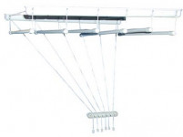 sušák stropový IDEAL 130cm 6 tyčí plastový + kov. BÍ
