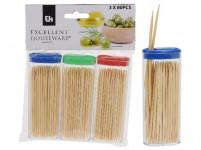 párátka kulatá oboustr. bambus (3x80ks) + plastový box oválný