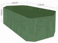 plachta krycí na set 8 žídlí+obdél. stůl 278x204x106cm PE 110g/m2