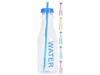 láhev na pití 650ml JUICE/WATER s brčkem plastová - mix barev
