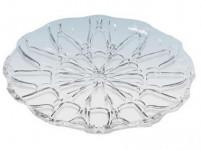 tác krystal kulatý 28cm imitace skla plastový