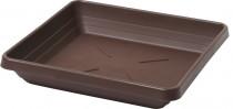 Plastia miska čtyřhranná Lotos - čokoládová 25x25