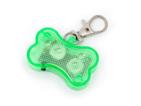 Svítící LED přívěsek na obojek zelený, Domestico