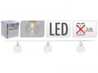 osvětlení LAMPIONY pr.4cm 10LED řetěz BÍ