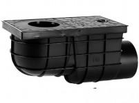 lapač střešních vod boční DN 110mm plastový, ČER