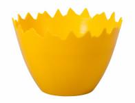 Obal na květník SKOŘÁPKA plastový žlutý d9x7cm
