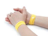 Akupresurní náramek proti nevolnosti, 2 kusy v pouzdře, žlutý
