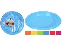 talíř 22cm plastový (30ks) jednorázový - mix barev