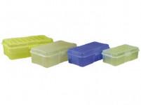 box s klick uzávěrem 20x10x 6cm (0,8l) plastový - mix barev