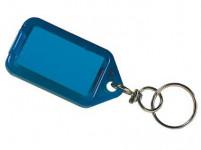 visačka na klíče 5,5x2,9cm plastová, s krouž. (3ks) - mix barev