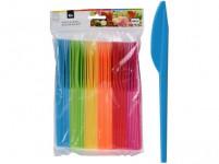 nůž plastový (48ks) jednorázový - mix barev