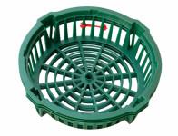 Košík na cibuloviny tmavě zelený d22cm 3ks