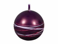 Svíčka SATURN KOULE vánoční metalická lesklá d8cm