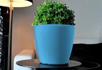 Samozavlažovací květináč GreenSun AQUAS průměr 22 cm, výška 21 cm, modrý