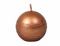 Svíčka ANDROMEDA KOULE vánoční d6cm