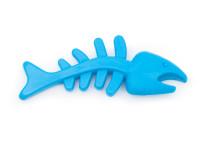 Dentální gumová hračka ryba, 13 cm, modrá, Domestico