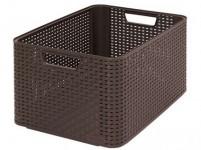 box úložný RATTAN 43,6x33x23cm (L), STYLE2, plastový, HN