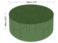 plachta krycí na set 4-6 židlí+kul. stůl pr.188x89cm PE 90g/m2