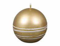Svíčka SATURN KOULE vánoční metalická lesklá d6cm
