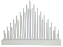svícen vánoční el.33 svíček LED, teplá BÍ, dřev. BÍ,40,2x30x5cm, do zásuvky