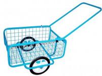 vozík POPULAR I, sklád., gum. obruč, komaxit,418x618x232(1220) mm