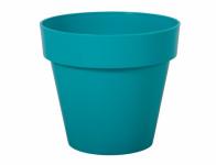 Květník MITU plastový modrý lesklý 14x13cm
