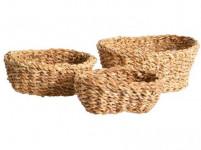 košík oválný malý 20x14x6cm mořská tráva