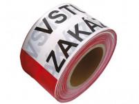 páska výstražná 75mmx250m VSTUP ZAKÁZÁN, ČRV-BÍ