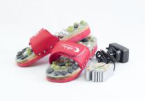 Vyhřívané masážní pantofle s přírodními kameny, červené, CatMotion